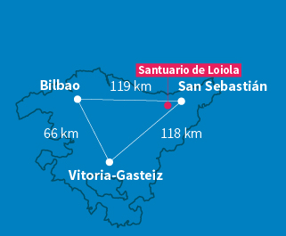 Loyola Spain Map.The Sanctuary Of Loiola Basque Country Cultural Heritage Tourism